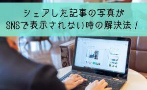 アメブロ記事の写真がSNSのアイキャッチでプロフィール写真になってしまう時の対処法