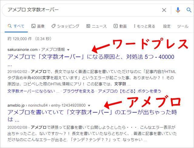 アメブロ ワードプレス 検索